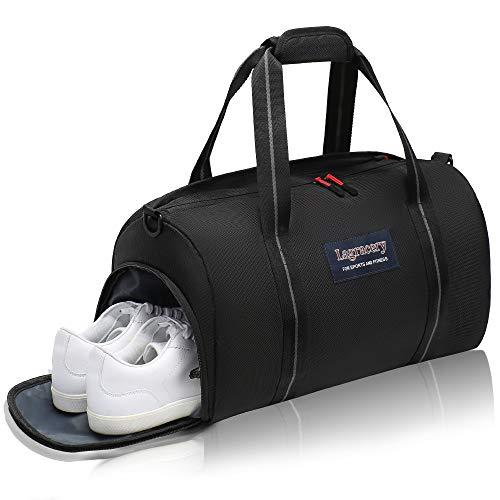 La Gracery Sac de sport étanche avec compartiment à chaussures et couche de séparation sèche et humide pour homme et femme