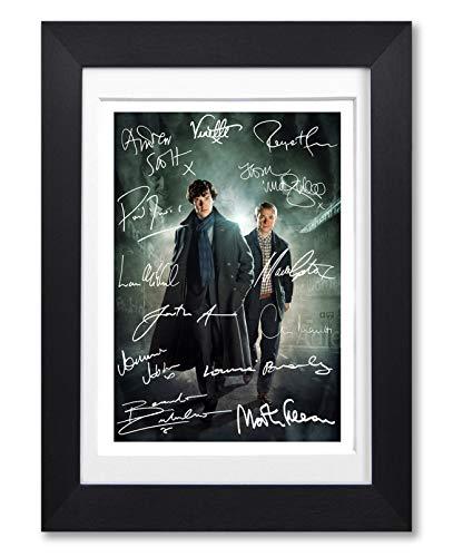 Sherlock Full Cast Signed Autograph Signature A4 Poster Photo Print Photograph Artwork Wall Art Picture Present Birthday Xmas Christmas Memorabilia Gift BBC Benedict Cumberbatch Martin Freeman (POSTER ONLY)