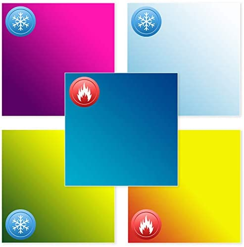 Color Changing Vinyl for Cricut 5 Pack 12x11inch Adhesive Permanent Vinyl Sheets for Cricut product image