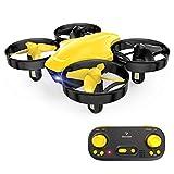 SNAPTAIN SP350 Mini Drone pour Enfant, Drone Jouet Télécommandé, 21 Mins Autonomie avec 3 Batteries, Mode sans Tête, Maintien de l'altitude, Facile à utiliser, Parfait pour Enfants et Débutants, Jaune