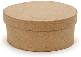 Small Oval Paper Mache Boxes with Lids - Package of 12 Boxes