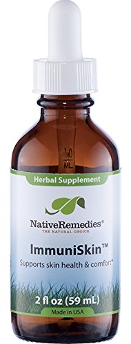 Native Remedies ImmuniSkin - All Natural Herbal Supplement Supports Skin Health and Immune System Functioning - Promotes Naturally Healthy Skin - 59 mL