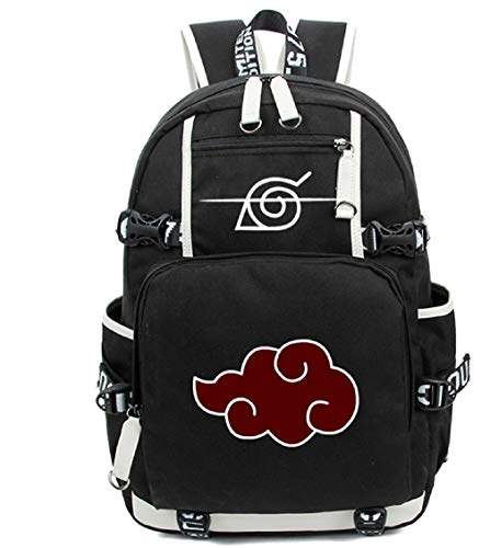 Siawasey Japanischer Anime-Cosplay-Rucksack, für Laptop, als Schultasche, Schultertasche schwarz Naruto 4