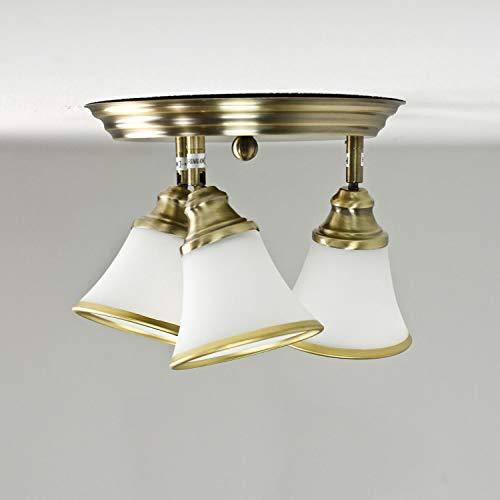 Elegante Deckenleuchte in Bronze Glas 4xE14 drehbar Jugendstil Deckenlampe Wohnzimmer Bad Schlafzimmer