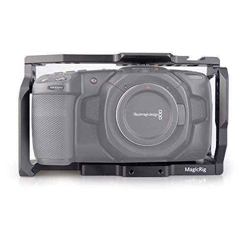 MAGICRIG BMPCC 4K /BMPCC 6K Camera Cage with Cold Shoe for Blackmagic Design Pocket Cinema Camera 4K /Camera 6K