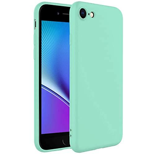 TBOC Funda para Apple iPhone 8 [4.7'] - Carcasa Rígida [Turquesa] Silicona Líquida Premium [Tacto Suave] Forro Interior Microfibra [Protege la Cámara] Antideslizante Resistente Suciedad