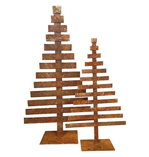 Tannenbaum Gartendeko Rost Metall Weihnacht- und Herbstdekoration für innen und außen