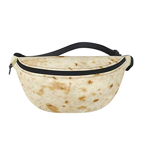 CapsA Hiking Waist Packs Fanny Packs Waist Bag for Women Girls Kids Food Creation Burrito Baby Adult Tortilla Blanket Fanny Pack Novelty Fashion Dad Waist Bag (A)