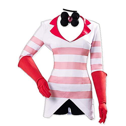 6 PCS/Set Hazbin Carnival Hotel Dust Angel Cosplay Disfraz Halloween Diario Uniforme Escolar Trajes con Accesorios