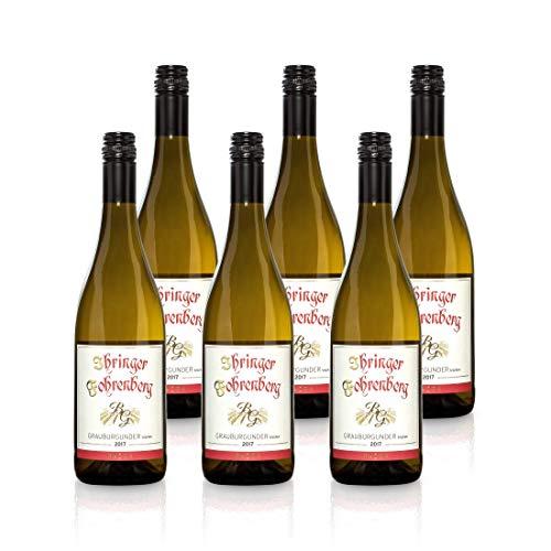 Grauburgunder - Ihringer Fohrenberg 2017 | Weißwein aus Deutschland | Trocken & Weiß | WBK Glatt | Fruchtig & Weich im Geschmack (6x 0,75l)