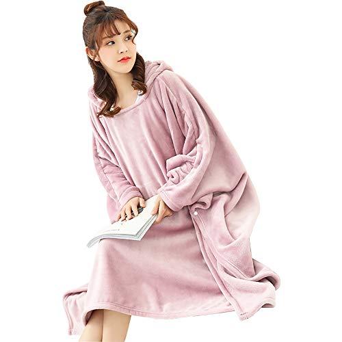 LSBQQ Huggles Hoodies Hooded Robe Spa Badjas Sweatshirt Fleece Pullover Deken Heren Womens voor Volwassen Vrouwen Mannen