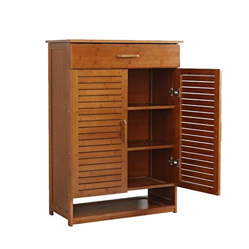 BXU-BG Qaryq - Zapatero de madera maciza de múltiples capas para sala de estar, entrada y salón