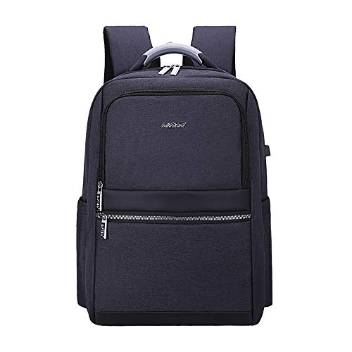 Travel Laptop Backpack with USB Charging, Anti-Theft Business Laptop Backpack-grey 2