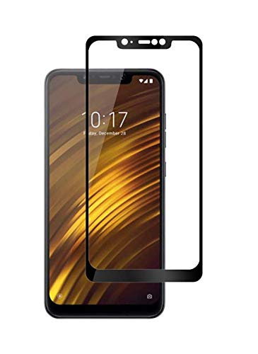 Spinzzy® 11D Tempered Glass Screen Protector Compatible for Poco F1 with Edge to Edge Full Glue Tempered Glass Coverage and Easy Installation