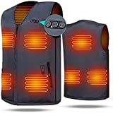 ARRIS Heated Vest 7 Heating Pads Men Women Size Adjustable Electric Heating Clothing for Hiking, Camping, Fishing, Motorcycling with 7.4V Battery …
