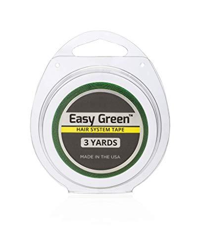Luttmann Walker Tape Easy Green Tape 1/2 inch 3 Yards (12mm x 2,7m) Klebeband Kleberolle Lacefront transparent für Haarsysteme, Haarteile, Perücken, Toupets & Extensions