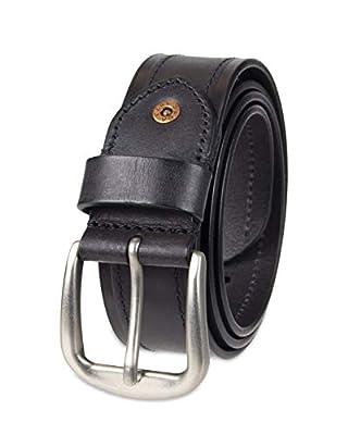Levi's Men's Casual Leather Belt, Jet black, Medium (34-36)