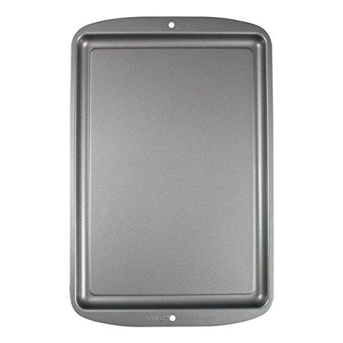 PME CSB113 Petite Plaque à Pâtisserie Anti-adhérente en Acier au Carbone 331 x 229 mm de Profondeur, Silver, 37,5 x 24,5 x 1,6 cm