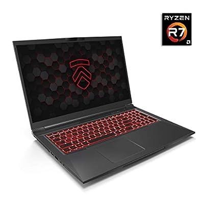 "Matrix RP-17 Ultra Performance Gaming Laptop PC: AMD Ryzen 4800H 8-Core CPU NVIDIA GeForce RTX 2060 Graphics 17.3"" 144Hz Full HD 2TB NVMe SSD + 32GB 3200MHz RAM - Eluktronics Covert Gamer Notebook"