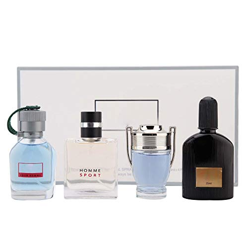 Set de perfume para hombre de Colonia - 4 x 25ml Set de regalo de fragancia de larga duración Gentleman Liquid Perfume