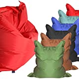 Bolsa grande de espuma para interior y exterior, cojín grande impermeable para jardín (extra grande, 180 x 140 cm), color rojo