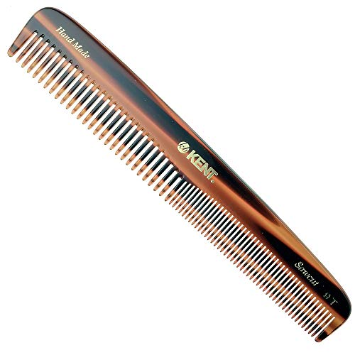 Kent 9T Pocket Comb & Hair Straightener - Wide Tooth/Fine Tooth Comb for Hair Care - Beard Straightener Comb and Cosmetology Supplies - Detangling Comb and Straightening Comb Styling Beard Comb