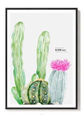 LKJHGU Sin Marco Plantas Planta en Maceta Cactus Verde Pintura de Flores HD Decoración para el hogar Cocina Arte de la Pared Imagen Carteles Calidad Lienzo Pintura 40 * 50cm C