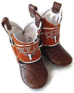 Texas Longhorns Baby Cowboy Boots with Leather