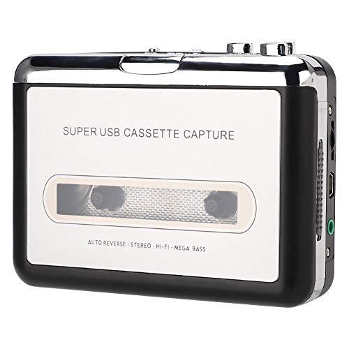 Leitor de cassete, conversor de fita USB ABS para captura de MP3, leitor de cassete Walkman, fones de ouvido para 2000/XP/Vista/Seven.8.10 para computador