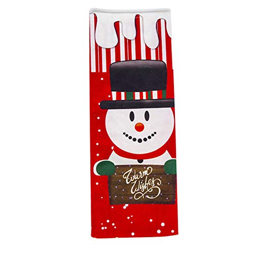 Demarkt - Bolsa para Botellas de Vino navideño, decoración de Mesa, Muñeco de Nieve, 12.5cm*34cm