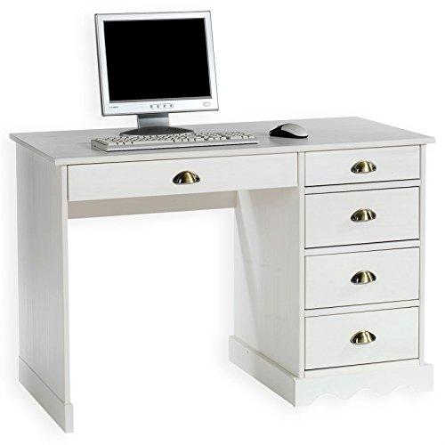IDIMEX Schreibtisch Bürotisch Colette, weiß, Landhausstil