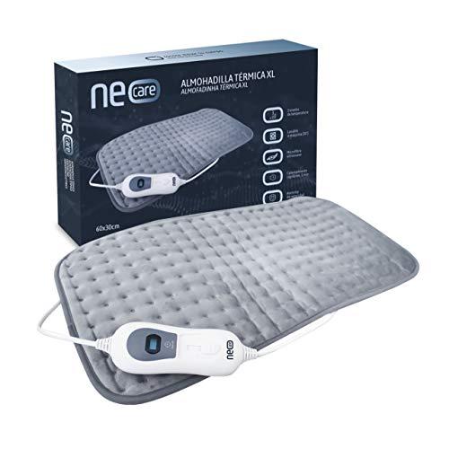 NEOCARE Almohadilla Térmica XL 60x30cm. Manta Eléctrica Para el Alivio del Dolor Muscular Lumbar, Cuello y Hombro