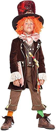 Fancy Me Italienisches Jungen-Kostüm mit Perücke & Hut Weltbuch-Tag Karneval Kostüm Outfit 3-10 Jahre