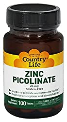 Country Life Zinc Picolinate (100 tablets)