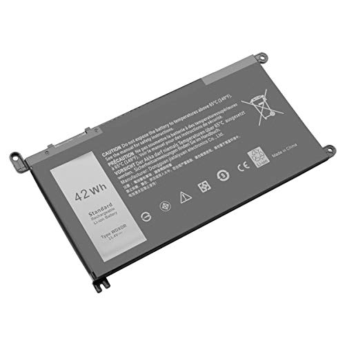 Exmate WDX0R T2JX4 3CRH3 FC92N CYMGM Laptop Battery for Dell Inspiron 13 5379 5378 5368 7368 7378 Inspiron 15 5568 5567 5578 7569 7560 5565 7570 7579 Inspiron 17 5770 5767 5765
