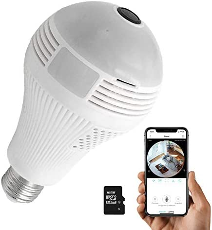 Light Bulb Camera Dome Surveillance Cameras Full HD 1080P Home 2 4GHz WiFi Camera with 16G SD product image