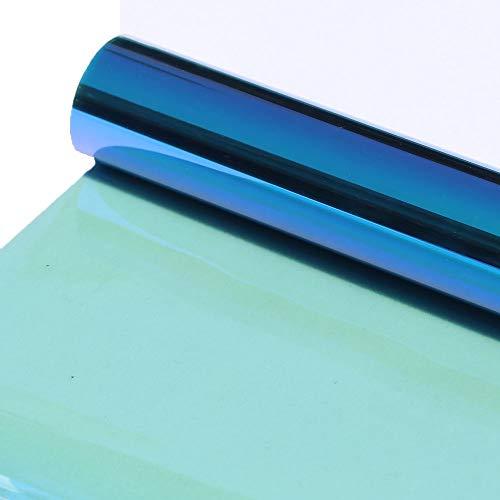 HOHOFILM Tönungsfolie für Auto-Seiten- und Heckscheibe, selbstklebend, Wärmeregulierung, 152 x 75 cm, Blau