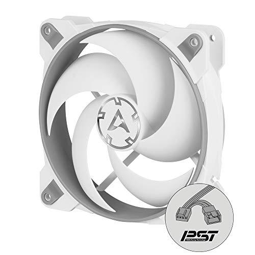 ARCTIC Bionix P120 - 120 mm Gaming Gehäuselüfter, PWM PST-Sharing-Funktion, Optimiert für statischen Druck, Kühler, RPM synchron, 200-2100 U/min. - Grau/weiß