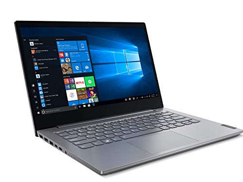 Lenovo ThinkBook 14 Intel Core i3 10th Gen 14-inch Full HD Thin and Light Laptop (4GB RAM/ 1TB HDD/ Windows 10 Pro/ Mineral Gray/ 1.49 kg), 20SL005TIH