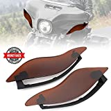 Air Deflectors Side Wings, 2 Pcs Adjustable Windshield Fairing, for 2014-2020 Touring Models Electra Glide Street Glide Tri Glide CVO Limited, Dark Smoke