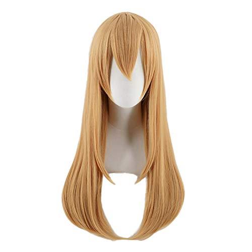 Anime Cells at Work Platelet Cosplay Brown Long Wig Hat Cap Hataraku Saibou Leukocyte Heat-resistant Fiber Hair + Wig Cap Party