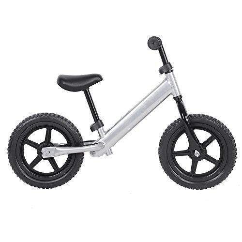 LLF Bicicletas sin Pedales, Bicicleta De Equilibrio para Niños con Rueda De 12 Pulgadas, Bicicleta De Equilibrio para Niños De Acero Al Carbono, Bicicleta Sin Pedales para Niños (Plateado)