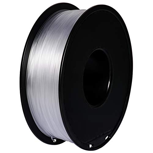 PETG Filament per Stampante 3D, GIANTARM PETG Filament 1.75mm, Dimensional Accuracy +/- 0.2mm, 1kg, Transparen