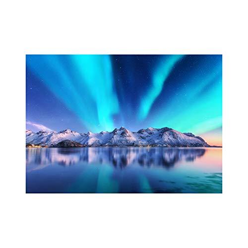 Póster aurora boreal, cuadros de pared para decoración de salón, dormitorio, cocina   30 x 42 cm impresiones artísticas