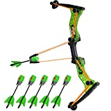 Zing Hyperstrike Bow and 6 Foam Arrows, Clear Green, Shoots Over 250 Feet