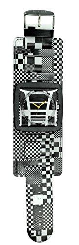 S.T.A.M.P.S. Stamps komplette Uhr mit breitem Armband Pixel City, Cool Jack Black und Zifferblatt Motocross - frogman-