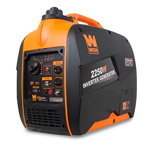WEN 56225i 2250-Watt Gas Powered Portable Inverter Generator with Fuel Shut-Off, CARB Compliant , Black