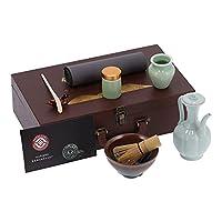 抹茶セット、ご家庭にぴったりの便利なナチュラルティーセレモニーキット(うさぎスタイル, 青)