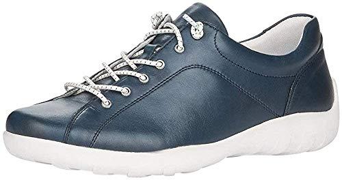 Remonte Damen Schnürhalbschuhe R3515, Frauen sportlicher Schnürer, Freizeit leger schnürschuh strassenschuh Sneaker Derby,Pazifik,42 EU / 8 UK