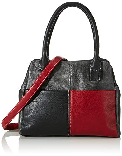 N.V. Bags Lucy, BOLSA GRAB para Mujer, Red, One Size